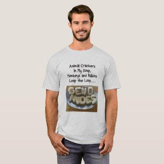 私のスープの動物のクラッカーは裸体を送ります Tシャツ