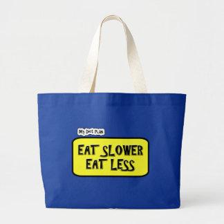 私のダイエットの計画は…より遅い食べますより少しを食べます ラージトートバッグ