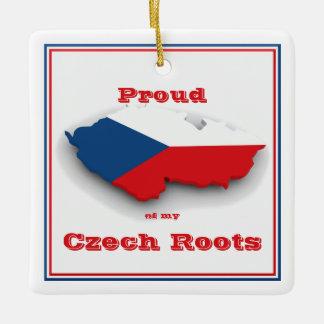私のチェコの根のオーナメントの誇りを持った セラミックオーナメント