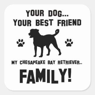 私のチェサピーク・ベイ・レトリーバー家族、ちょうどあなたの犬 スクエアシール
