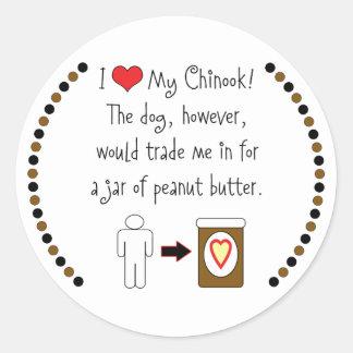 私のチヌックはピーナッツバターを愛します ラウンドシール