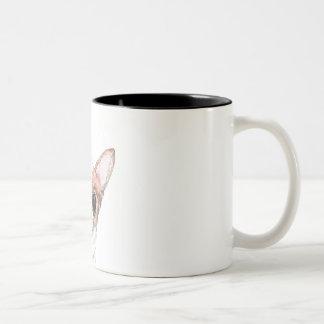 私のチワワを愛して下さい! ツートーンマグカップ