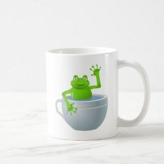 私のティーカップのおもしろいな予想外のカエル コーヒーマグカップ