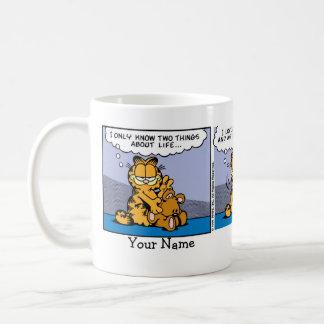 """""""私のテディー・ベア""""のガーフィールドの続きこま漫画愛して下さい コーヒーマグカップ"""