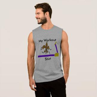 私のトレーニングのワイシャツ 袖なしシャツ