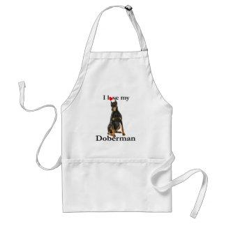 私のドーベルマン犬のエプロンを愛して下さい スタンダードエプロン