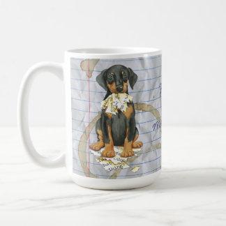 私のドーベルマン犬は私のレッスン・プランを食べました コーヒーマグカップ