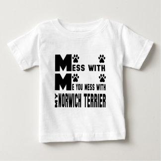 私のノリッジテリアと台なしにします ベビーTシャツ