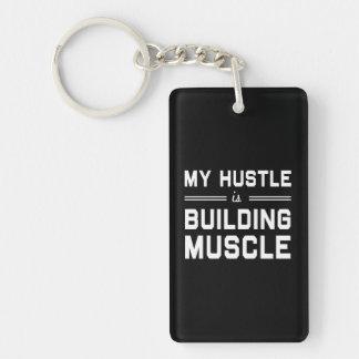 私のハッスルは筋肉を造っています キーホルダー