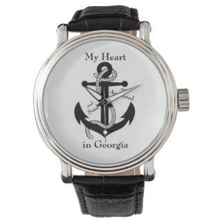 私のハートおよび精神はジョージアで固定します 腕時計