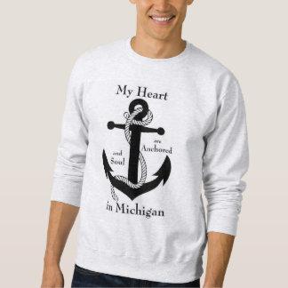 私のハートおよび精神はミシガン州で固定します スウェットシャツ