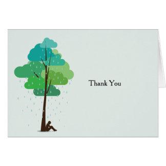 私のハートによって折られる死別の雨は感謝していしています カード