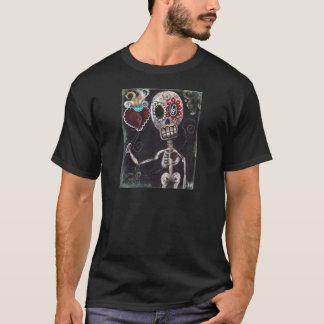 私のハートに死んだワイシャツの骨組日を取って下さい Tシャツ