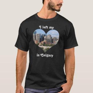 私のハートのカルガリー都市スカイラインアルバータカナダを残しました Tシャツ