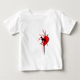 私のハートのグレートデーン ベビーTシャツ