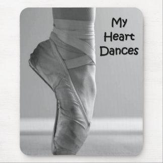 私のハートのダンスのバレリーナはマウスパッドに蹄鉄を打ちます マウスパッド