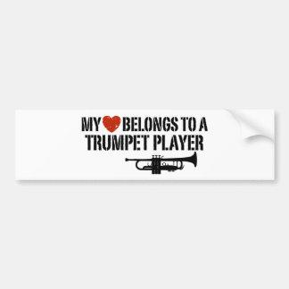 私のハートのトランペット奏者 バンパーステッカー