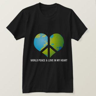 私のハートの世界平和及び愛 Tシャツ