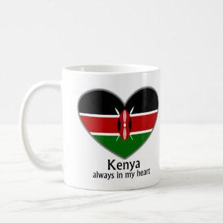 私のハートの常のケニヤ コーヒーマグカップ