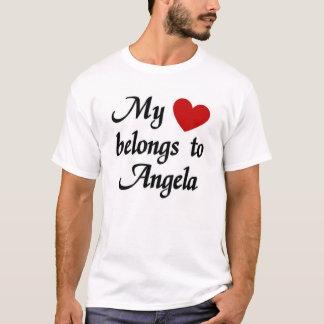 私のハートはアンジェラに属します Tシャツ