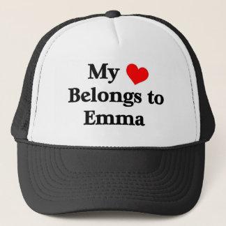 私のハートはエマに属します キャップ