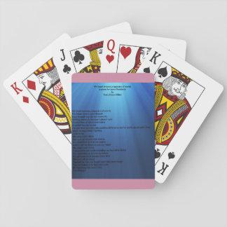 私のハートはカードを遊ぶ単語のタペストリーを編みます トランプ