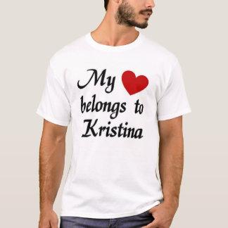 私のハートはクリスティーナに属します Tシャツ