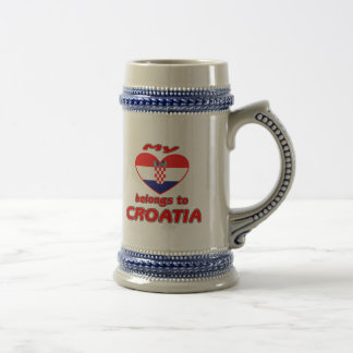 私のハートはクロアチアに属します ビールジョッキ