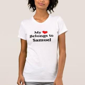 私のハートはサミュエルに属します Tシャツ