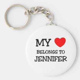 私のハートはジェニファーに属します キーホルダー