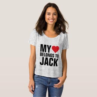 私のハートはジャックに属します Tシャツ