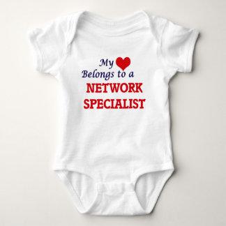 私のハートはネットワークの専門家に属します ベビーボディスーツ