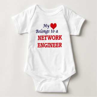 私のハートはネットワークエンジニアに属します ベビーボディスーツ
