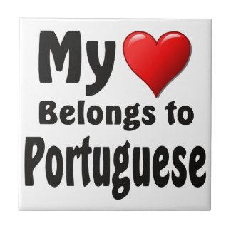 私のハートはポルトガル語に属します タイル