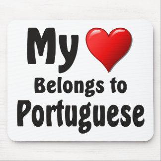 私のハートはポルトガル語に属します マウスパッド