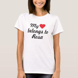 私のハートはローザに属します Tシャツ