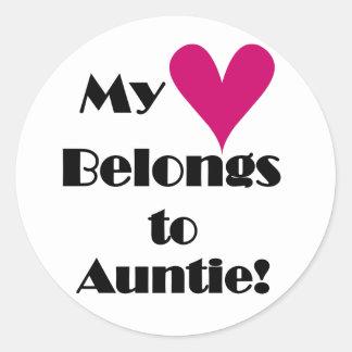私のハートは伯母さんに属します ラウンドシール