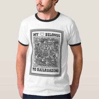 私のハートは強行採決のTシャツに属します Tシャツ