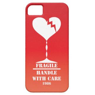 私のハートは心配のiPhone 5の場合と壊れやすいです扱います iPhone SE/5/5s ケース