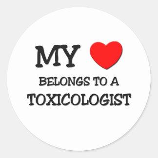 私のハートは毒物学者に属します ラウンドシール