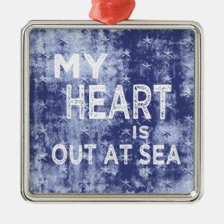 私のハートは海にあります メタルオーナメント