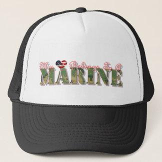 私のハートは海兵隊員に属します キャップ