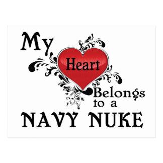 私のハートは海軍原子力に属します ポストカード