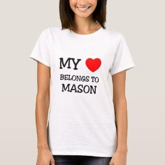 私のハートは石大工に属します Tシャツ