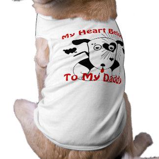 私のハートは私のお父さん犬のTシャツに属します ペット服
