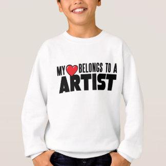 私のハートは芸術家に属します スウェットシャツ