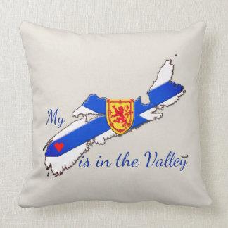 私のハートは谷のノバスコシアの大きい枕にあります クッション