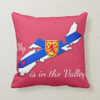 私のハートは谷のノバスコシアの枕ピンクです クッション