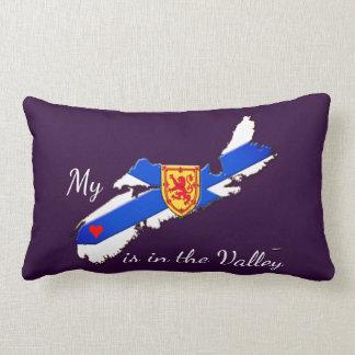 私のハートは谷のノバスコシアの枕紫色です ランバークッション