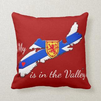私のハートは谷のノバスコシアの枕赤です クッション